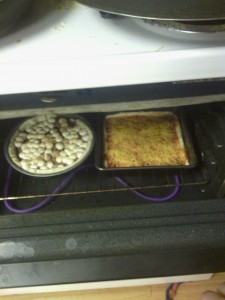 In the Oven now Baking!